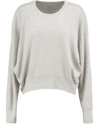 IRO - Ribbed Wool Jumper Light Grey - Lyst