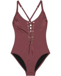 Heidi Klum - Majestic Lace-up Swimsuit - Lyst