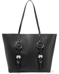 Alexander Wang Ace Embellished Leather Tote Black