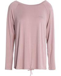 Calvin Klein - Printed Stretch-modal Pyjama Top Antique Rose - Lyst
