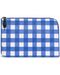 Diane von Furstenberg - Gingham Leather Pouch - Lyst