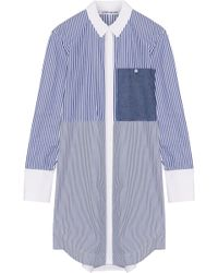 Elizabeth and James - Jay Striped Cotton-poplin Mini Shirt Dress - Lyst