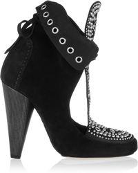 Isabel Marant - Embellished Suede Ankle Boots - Lyst