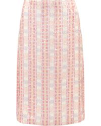 J.Crew - Collection Sequined Silk-georgette Midi Skirt - Lyst