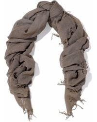 Chan Luu - Fringe-trimmed Cashmere And Silk-blend Gauze Scarf - Lyst