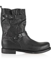 Rag & Bone - Buckled Leather Boots - Lyst