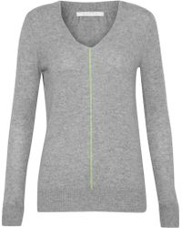 Duffy - Neon-trimmed Cashmere Sweater - Lyst