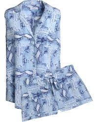 Equipment - Snake-print Silk Pajama Set - Lyst