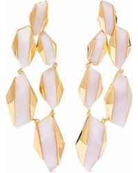 Noir Jewelry - 14-karat Gold-plated Resin Earrings - Lyst