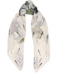 Rag & Bone - Printed Silk-chiffon Scarf - Lyst