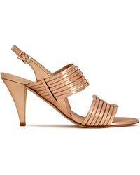Claudie Pierlot - Metallic Leather Sandals - Lyst