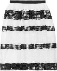 MICHAEL Michael Kors | Panelled Crocheted Lace Skirt | Lyst