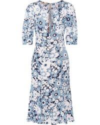 Michael Kors - Floral-print Silk-georgette Dress - Lyst