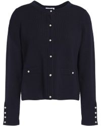 Claudie Pierlot - Crochet-trimmed Stretch-knit Cardigan - Lyst