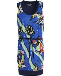 Boutique Moschino - Printed Mesh Mini Dress - Lyst
