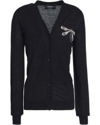 Rochas - Embellished Cotton Cardigan - Lyst