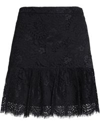 Claudie Pierlot - Pleated Lace Mini Skirt - Lyst