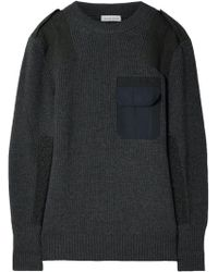 Tomas Maier - Twill-paneled Merino Wool Sweater - Lyst
