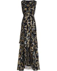 Peter Pilotto - Metallic Fil Coupé Silk-blend Gown - Lyst