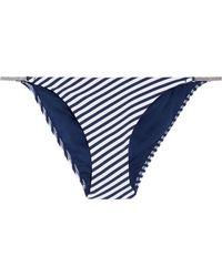Heidi Klum - Sun Dappled Striped Low-rise Bikini Briefs Midnight Blue - Lyst