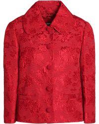 Dolce & Gabbana - Cotton And Silk-blend Matelassé Jacket - Lyst