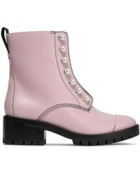 053ee17d4c602 3.1 Phillip Lim - Woman Hayett Faux Pearl-embellished Leather Ankle Boots  Baby Pink -