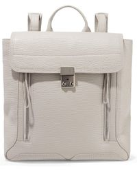 3.1 Phillip Lim - Woman Pashli Textured-leather Backpack Ecru - Lyst