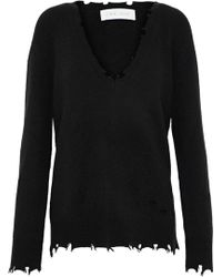 IRO - Brody Distressed Knitted Sweater - Lyst