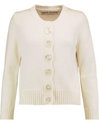 Goat   Digby Ribbed Cotton Cardigan   Lyst