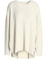 See By Chloé - Bouclè-knit Cotton-blend Sweater - Lyst