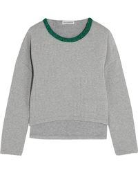 Vika Gazinskaya - Cropped Quilted Stretch-cotton Sweatshirt - Lyst