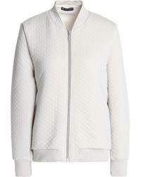 Petit Bateau - Woman Quilted Cotton-blend Jersey Jacket Beige - Lyst