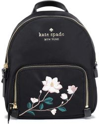 Kate Spade - Woman Watson Lane Embroidered Twill Backpack Black - Lyst