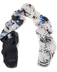 Roberto Cavalli - Floral-print Silk Scarf - Lyst