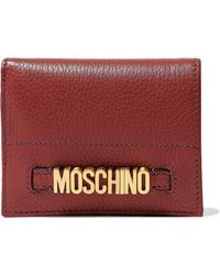 Moschino - Embellished Textured-leather Wallet - Lyst
