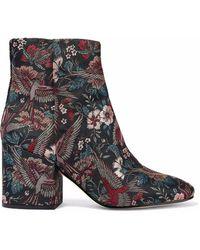 Sam Edelman - Taye Metallic Jacquard Ankle Boots - Lyst