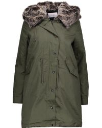 W118 by Walter Baker - Alyssa Convertible Faux Fur-trimmed Cotton-canvas Hooded Coat - Lyst
