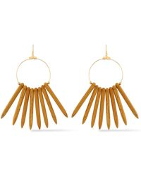 Kenneth Jay Lane - Gold-tone Beaded Earrings Light Brown - Lyst