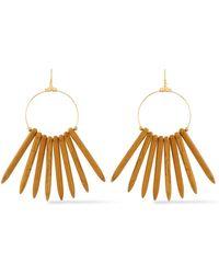 Kenneth Jay Lane - Gold-tone Beaded Earrings - Lyst