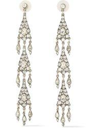 Ben-Amun - Silver-tone Crystal Earrings - Lyst