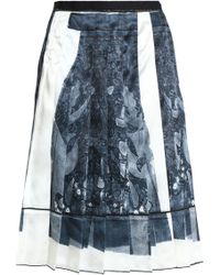 Marc Jacobs - Pleated Printed Satin Skirt - Lyst