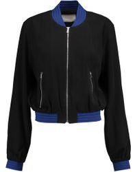 Alexis - Trei Stripe-trimmed Crepe Jacket - Lyst