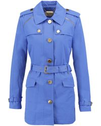 MICHAEL Michael Kors - Belted Cotton-blend Coat - Lyst