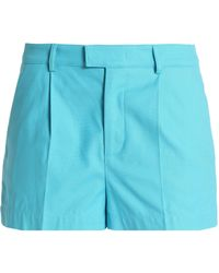 RED Valentino - Pleated Cotton-blend Shorts - Lyst