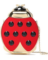 Charlotte Olympia - Embellished Gold-tone And Enamel Clutch - Lyst