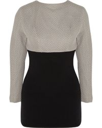 Perfect Moment   + Helen Lee Honeycomb-mesh And Merino Wool Top   Lyst
