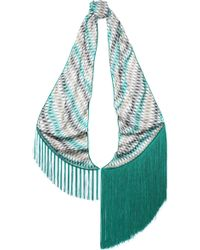 Missoni - Fringe-trimmed Printed Knitted Scarf - Lyst