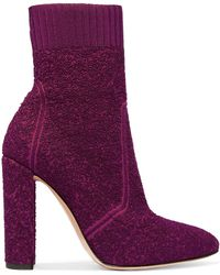 Gianvito Rossi - Isa Bouclé-knit Sock Boots - Lyst