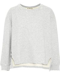 AMO - Distressed Cotton-terry Sweatshirt - Lyst