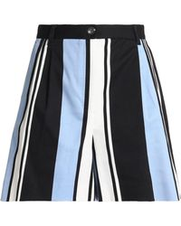 Dolce & Gabbana - Striped Cotton-blend Twill Shorts - Lyst